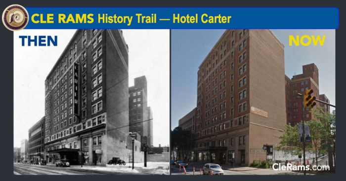 Cleveland Rams Hotel Carter