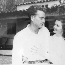 Bob Waterfield and his wife, movie star Jane Russell, at home in southern California. (Buck Waterfield Collection)